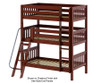 Maxtrix MOLY Triple Bunk Bed Twin Size Chestnut | Maxtrix Furniture | MX-MOLY-CX