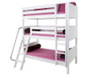 Maxtrix MOLY Triple Bunk Bed Twin Size White | Maxtrix Furniture | MX-MOLY-WX