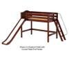 Maxtrix NINJA Mid Loft Bed with Slide Twin Size Chestnut | Maxtrix Furniture | MX-NINJA-CX