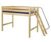 Maxtrix PACK Mid Loft Bed Twin Size Natural | Maxtrix Furniture | MX-PACK-NX