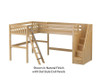 Maxtrix PENTHOUSE Corner High Loft Bed Twin Size Natural | 26495 | MX-PENTHOUSE-NX