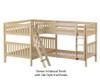 Maxtrix QUADRANT Corner Bunk Bed Full Size Natural | 26510 | MX-QUADRANT-NX