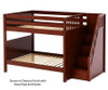 Maxtrix QUASAR Medium Bunk Bed with Stairs Full Size Chestnut | 26512 | MX-QUASAR-CX