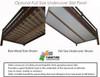 Maxtrix QUASAR Medium Bunk Bed with Stairs Full Size Natural | Maxtrix Furniture | MX-QUASAR-NX