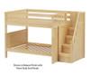 Maxtrix QUASAR Medium Bunk Bed with Stairs Full Size White | Maxtrix Furniture | MX-QUASAR-WX