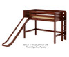 Maxtrix RANGER Mid Loft Bed with Slide Twin Size Chestnut | Maxtrix Furniture | MX-RANGER-CX