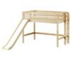 Maxtrix RANGER Mid Loft Bed with Slide Twin Size Natural | Maxtrix Furniture | MX-RANGER-NX