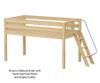 Maxtrix RIGHT Low Loft Bed Twin Size Natural | 26521 | MX-RIGHT-NX