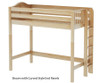 Maxtrix SLAM High Loft Bed Twin Size Natural   Maxtrix Furniture   MX-SLAM-NX