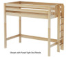Maxtrix SLAM High Loft Bed Twin Size Natural   26526   MX-SLAM-NX