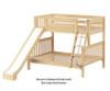 Maxtrix SLICK Bunk Bed w/ Slide Twin over Full Size Natural | Maxtrix Furniture | MX-SLICK-NX