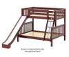 Maxtrix SLICK Bunk Bed w/ Slide Twin over Full Size Natural | 26532 | MX-SLICK-NX