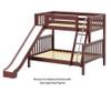 Maxtrix SLICK Bunk Bed w/ Slide Twin over Full Size White | 26533 | MX-SLICK-WX