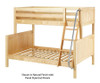 Maxtrix SLOPE Bunk Bed Twin over Full Size Chestnut | 26534 | MX-SLOPE-CX