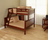 Maxtrix SLOPE Bunk Bed Twin over Full Size Chestnut | Maxtrix Furniture | MX-SLOPE-CX