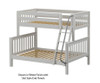 Maxtrix SLOPE Bunk Bed Twin over Full Size Natural | 26535 | MX-SLOPE-NX