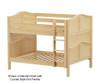 Maxtrix SLURP Low Bunk Bed Full Size Natural | Maxtrix Furniture | MX-SLURP-NX