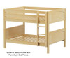 Maxtrix SLURP Low Bunk Bed Full Size Natural | 26538 | MX-SLURP-NX