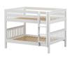Maxtrix SLURP Low Bunk Bed Full Size White | Maxtrix Furniture | MX-SLURP-WX