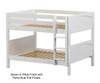 Maxtrix SLURP Low Bunk Bed Full Size White | 26539 | MX-SLURP-WX