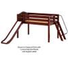 Maxtrix SMART Low Loft Bed with Slide Twin Size Natural | Maxtrix Furniture | MX-SMART-NX