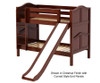 Maxtrix SMILE Low Bunk Bed w/ Slide Twin Size Chestnut   26543   MX-SMILE-CX