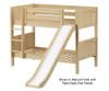 Maxtrix SMILE Low Bunk Bed w/ Slide Twin Size Natural | Maxtrix Furniture | MX-SMILE-NX