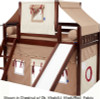 Maxtrix SMILEY Bunk Bed with Slide, Top Tent  and  Curtains   26546   MX-SMILEY