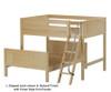Maxtrix SQUASH L-Shaped Bunk Bed Full Size Chestnut   26547   MX-SQUASH-CX