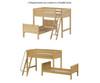 Maxtrix SQUASH L-Shaped Bunk Bed Full Size Chestnut   Maxtrix Furniture   MX-SQUASH-CX