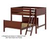 Maxtrix SQUASH L-Shaped Bunk Bed Full Size Natural | 26548 | MX-SQUASH-NX