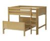 Maxtrix SQUISH L-Shaped Bunk Bed Full Size Natural | Maxtrix Furniture | MX-SQUISH-NX