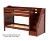 Maxtrix STACKER Low Bunk Bed with Stairs Twin Size Chestnut | Maxtrix Furniture | MX-STACKER-CX