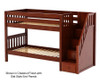 Maxtrix STACKER Low Bunk Bed with Stairs Twin Size Chestnut | 26551 | MX-STACKER-CX