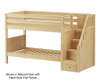 Maxtrix STACKER Low Bunk Bed with Stairs Twin Size Natural | Maxtrix Furniture | MX-STACKER-NX