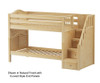 Maxtrix STACKER Low Bunk Bed with Stairs Twin Size Natural | 26552 | MX-STACKER-NX