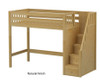 Maxtrix STAR High Loft Bed with Stairs Twin Size Chestnut | Maxtrix Furniture | MX-STAR-CX