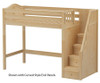 Maxtrix STAR High Loft Bed with Stairs Twin Size Natural | 26555 | MX-STAR-NX