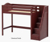 Maxtrix STAR High Loft Bed with Stairs Twin Size Natural | Maxtrix Furniture | MX-STAR-NX