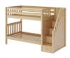 Maxtrix STELLAR Medium Bunk Bed with Stairs Twin Size Natural   Maxtrix Furniture   MX-STELLAR-NX