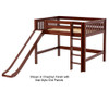 Maxtrix SUGAR Mid Loft Bed with Slide Full Size Chestnut | 26563 | MX-SUGAR-CX