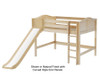 Maxtrix SUGAR Mid Loft Bed with Slide Full Size Natural | 26564 | MX-SUGAR-NX