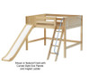 Maxtrix SUGAR Mid Loft Bed with Slide Full Size Natural | Maxtrix Furniture | MX-SUGAR-NX