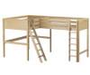 Maxtrix SUMMIT Corner High Loft Bed Full Size Natural | Maxtrix Furniture | MX-SUMMIT-NX
