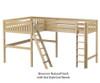Maxtrix SUMMIT Corner High Loft Bed Full Size Natural | 26566 | MX-SUMMIT-NX