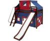 Maxtrix SWEET Mid Loft Bed with Tent & Slide Twin Size Chestnut   Maxtrix Furniture   MX-SWEET21-CX