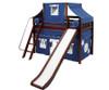 Maxtrix SWEET Mid Loft Bed with Tent & Slide Twin Size Chestnut 1   Maxtrix Furniture   MX-SWEET22-CX