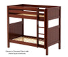 Maxtrix TALL High Bunk Bed Twin Size Chestnut | 26584 | MX-TALL-CX