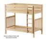 Maxtrix TALL High Bunk Bed Twin Size Natural | 26585 | MX-TALL-NX