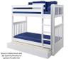 Maxtrix TALL High Bunk Bed Twin Size White   Maxtrix Furniture   MX-TALL-WX